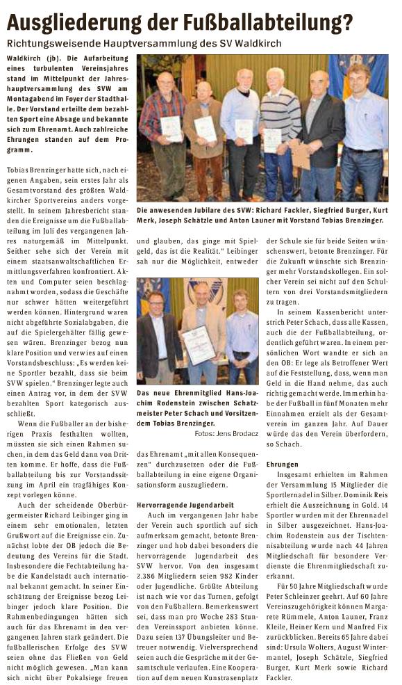 SVW JHV 2015 Ehrungen Bericht_Elztaeler_Wochenbericht