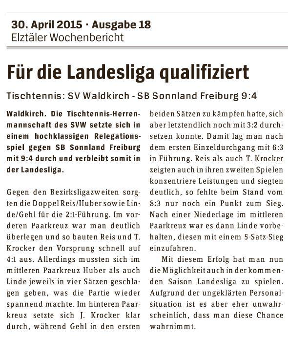 Herren Relegation 2015